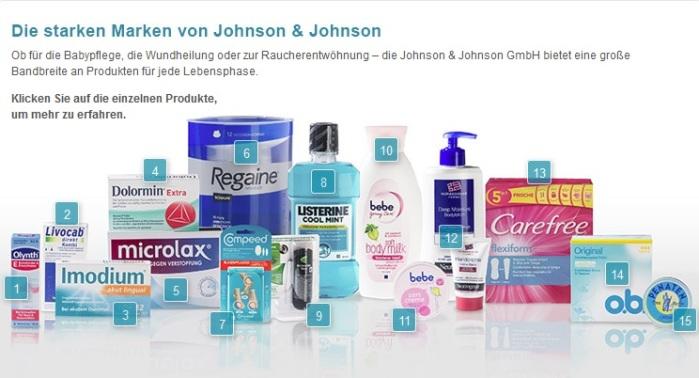Johnson & Johnson Produkte